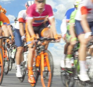 Racing Cyclists, Motion Blur