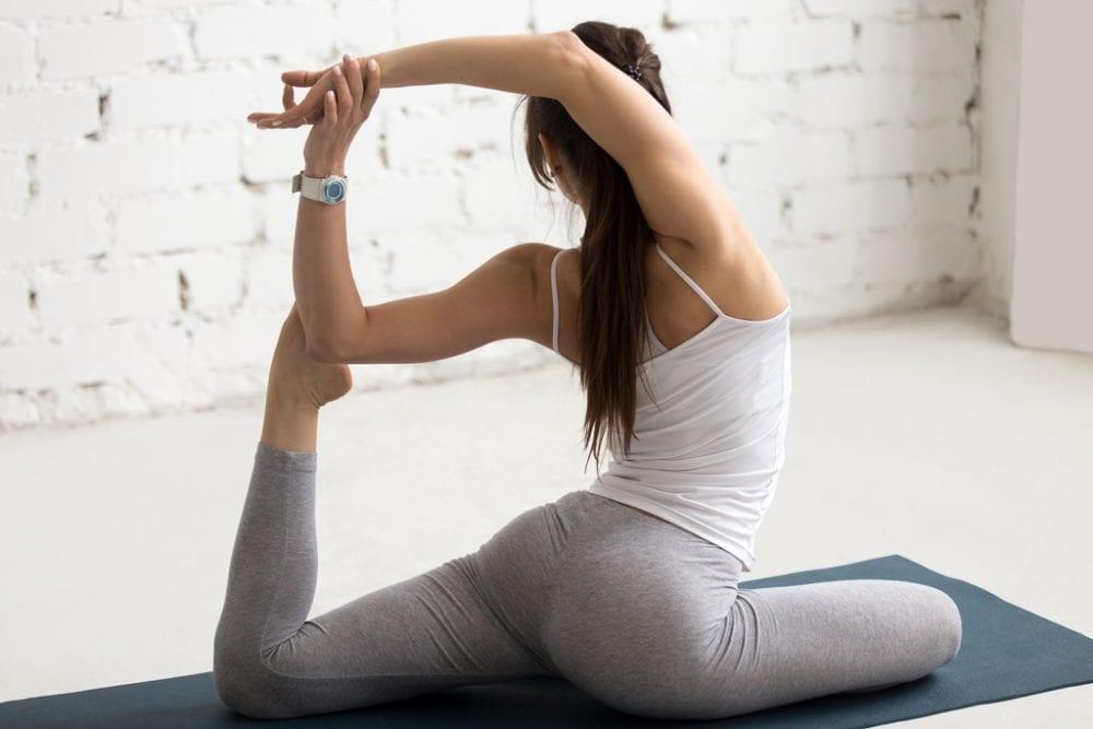 Yoga Indoors: Mermaid Yoga Pose