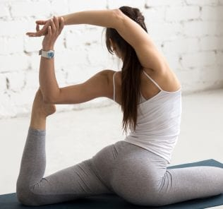 Yoga Indoors: Mermaid Yoga Pose