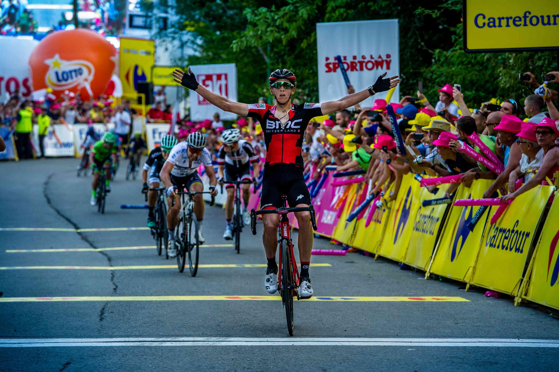 Dylan Teuns w trakcie Tour de Pologne 2017 (fot. Szymon Gruchalski)